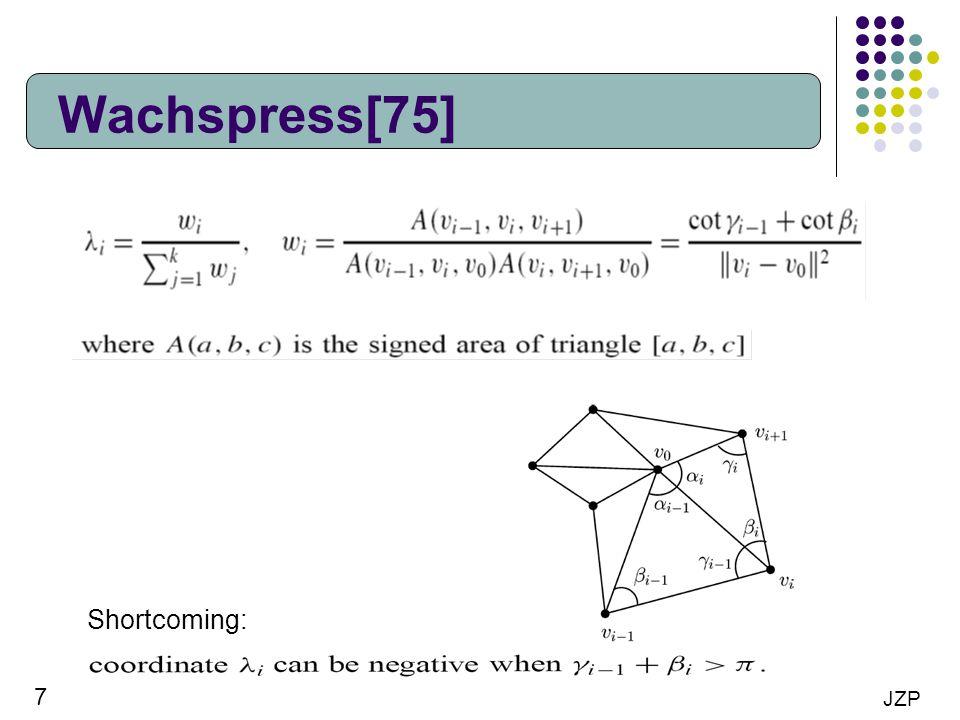 Wachspress[75] Shortcoming: